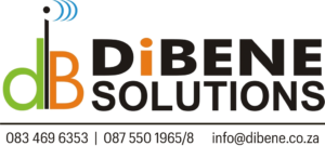 Dibene Logo Transparent Background with contact number and email.